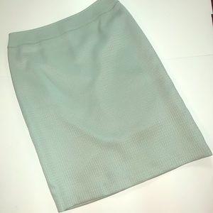 Tahari Light Green Pencil Skirt